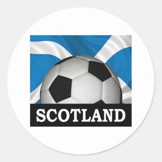 Football Scotland Round Sticker