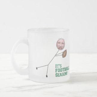 Football Season Frosted Glass Mug
