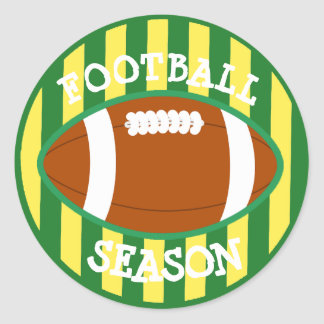 Football Season Green and Gold Wisconsin Stickers