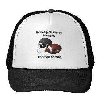 Football season mesh hats