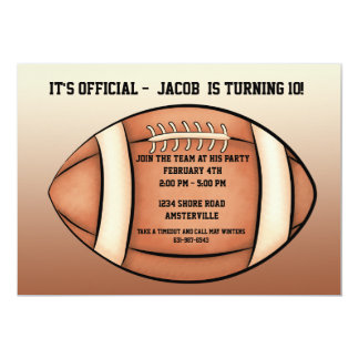 Football Season - Party Invitation