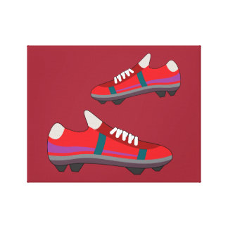Football Shoes Canvas Stretched Canvas Print