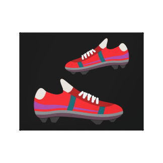 Football Shoes Canvas Gallery Wrap Canvas