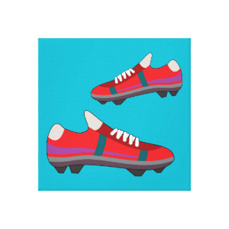 Football Shoes Canvas Stretched Canvas Prints