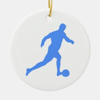 Football Silhouette Round Ceramic Decoration