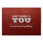 Football Silver Bar Mitzvah Thank You Note Card