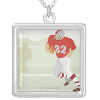 Football Silver Plated Necklace