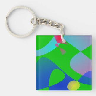 Football Single-Sided Square Acrylic Key Ring