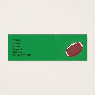 Football - Skinny Mini Business Card