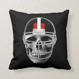 Football skull cushion