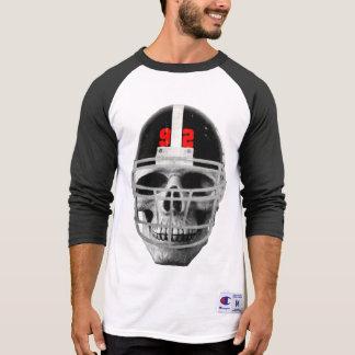 Football skull t shirt
