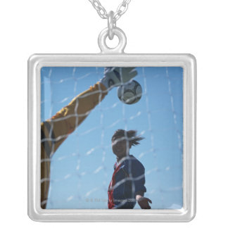 Football (Soccer) 3 Silver Plated Necklace