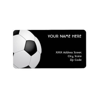 Football Soccer Address Labels