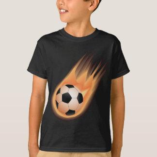 football, soccer ball fire T-Shirt