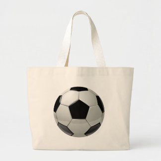 Football Soccer Ball Large Tote Bag