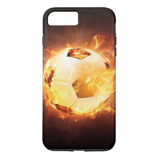 Football Soccer Ball on Fire iPhone 7 Plus Case