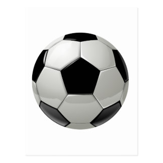 Football Soccer Ball Postcard
