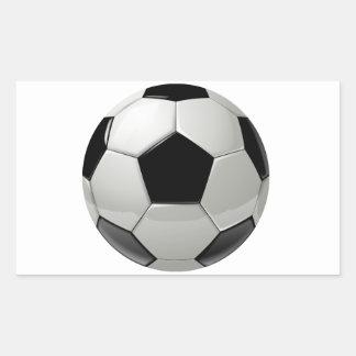 Football Soccer Ball Rectangular Sticker