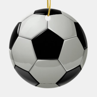 Football Soccer Ball Round Ceramic Decoration