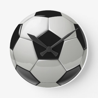 Football Soccer Ball Round Clock