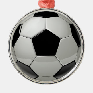 Football Soccer Ball Silver-Colored Round Decoration