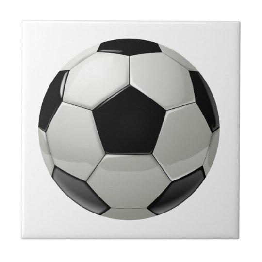 Football Soccer Ball Small Square Tile