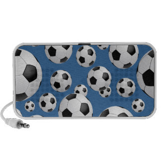 Football Soccer Balls Doodle iPod Speakers
