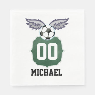Football/Soccer Birthday Party Personalized Disposable Napkin