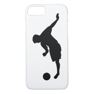 Football Soccer Black Silhouette iPhone 8/7 Case