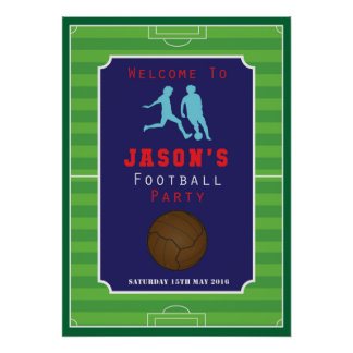 Football - Soccer - Boys - Birthday - Poster