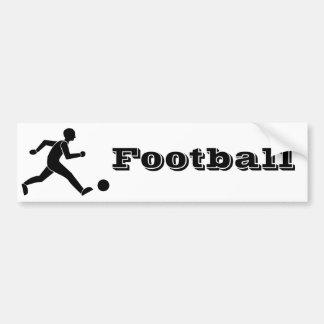 Football / soccer bumper sticker