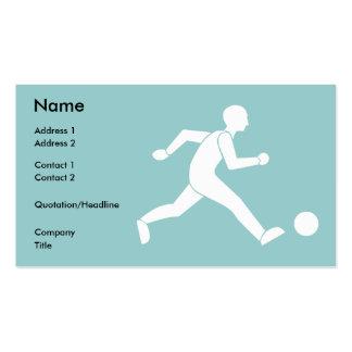 Football / soccer business card