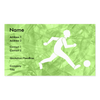 Football / soccer business card templates