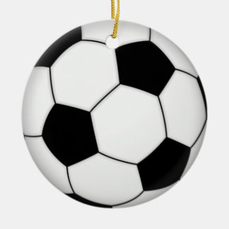 Football soccer christmas ornament