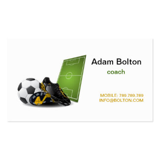Football , Soccer Coach Business Card Template