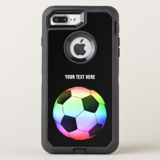 Football | Soccer Colorful Girly Gift OtterBox Defender iPhone 8 Plus/7 Plus Case