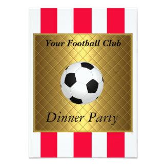Football Soccer Dinner party 11 Cm X 16 Cm Invitation Card