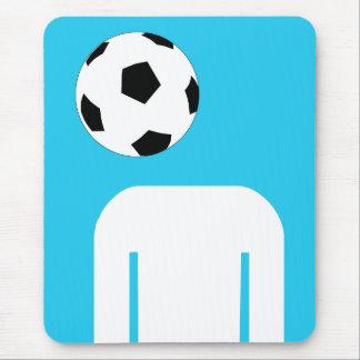 Football Soccer  head design Mouse Pad