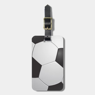 Football Soccer Luggage Tag