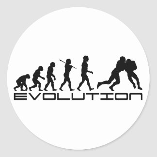 Football Soccer Player Sport Evolution Art Round Stickers
