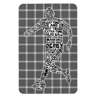 Football Soccer Player Text Art Rectangular Photo Magnet