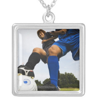 Football (Soccer) Silver Plated Necklace