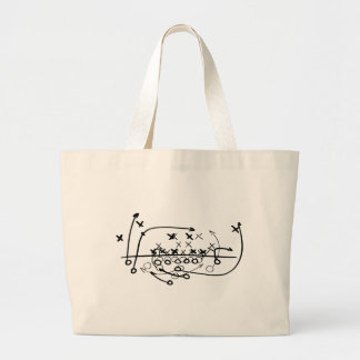 Football Soccer strategy play Diagram Large Tote Bag