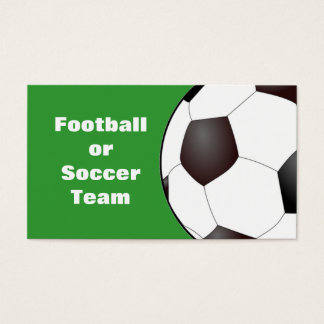 Football / Soccer Team Business Card