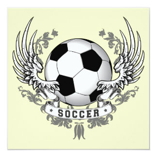 Football Soccer Wings Invitation