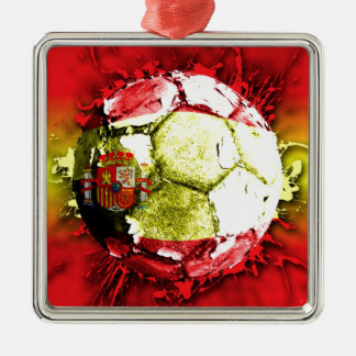 football spain christmas ornament