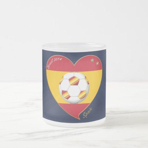 """FOOTBALL """"SPAIN"""" Spanish Soccer Team SPAIN SOCCER Mugs"""
