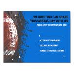 Football Splatter Bar Mitzvah Reply Card 11 Cm X 14 Cm Invitation Card