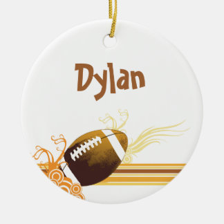 Football Sports Ball Game Personalised Name Christmas Ornament
