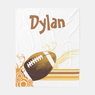 Football Sports Ball Game Personalised Name Fleece Blanket
